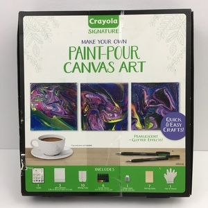 Crayola Make Your Own Paint Pour Canvas Art Kit